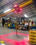 Gru di uso del workshop ed indicatore luminoso di viaggio ambientale della gru