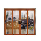 Excelente calidad de estilo chino puerta deslizante con rejilla