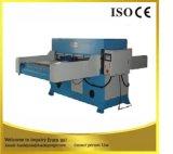 Máquina que corta con tintas del poliester de cuatro columnas de la tela hidráulica de la pongis
