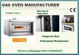 Professioneel Gas 1 Dek 1 van de Apparatuur van de Catering van de Fabrikant Commercieel de Oven van de Pizza van het Dienblad met Ce