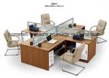 Büro-Arbeitsplatz-Büro-Partition-Tisch-Computer-Arbeitsplatz-Büro-Möbel-Arbeitsplatz mit Cup-Karre, Fach-Schränke anpassen