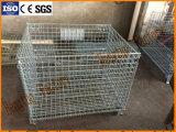 Recipiente de dobramento do engranzamento de fio de aço para o armazenamento do armazém
