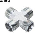 Kohlenstoffstahl-Kreuz, T-Stück, Krümmer, Nippel-hydraulische Befestigungen und Adapter