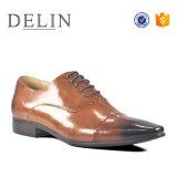 Diseño personalizado bajo MOQ vestido de cuero Zapatos para hombres jóvenes