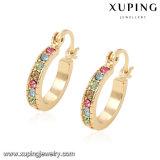 21683 Xuping Schmucksache-Frauen-Ohrring, fantastischer Entwurfs-Goldohrring, überzogener Farben-Ohrring des Gold18k