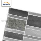 De hete Tegel van het Mozaïek van de Steen van het Glas van het Patroon van de Strook van het Aluminium van de Borstel van de Verkoop
