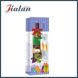 Sacs de cadeau de papier de transporteur d'achats estampés par 4c de bouteille de vin de promotion