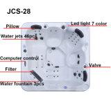 Nuova vasca calda Jcs-28 con due salotti tre sedi