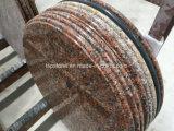 Dessus en pierre de table ronde de granit avec le profil différent de bord