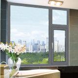 Fija de aluminio con doble acristalamiento y Casement Ventana con persiana interior