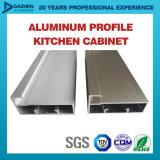 O perfil de alumínio para o gabinete de cozinha G-Segura com prata desobstruída anodizada de Matt