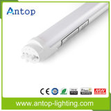 Alta UL Dlc dell'indicatore luminoso del tubo di lumen 1.2m T8 LED di Aluminium+PC
