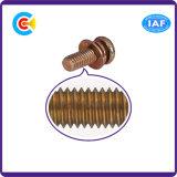 DIN/ANSI/BS/JISの炭素鋼かステンレス製のスプリングウオッシャーコンボ鍋ヘッドねじ