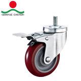 Отверстие под болт со стороны тормоза средней мощности PU самоустанавливающегося колеса