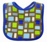 Produire OEM logo personnalisé en coton imprimé à rayures bleu royal Terry BABY BIB de cou