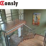 Escalier en verre de pêche à la traîne de balustrade et de balustrade d'acier inoxydable de matériau de construction