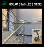 Raccords de la main courante en acier inoxydable pour escaliers rampes