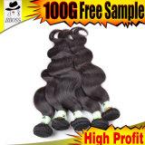 Tissage de corps des produits indiens de cheveux humains