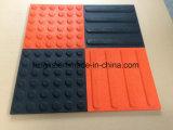 Coloridos pisos em mosaico de borracha tátil antiderrapagem para venda por grosso