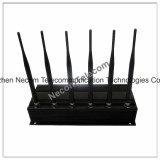 Haute énergie, batterie intrinsèque, signal mobile de GPS Blokcer/brouilleur, brouilleur puissant de dresseur du signal 6bands 4G/Lojack