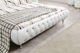 Кровать мебели спальни реальная кожаный с таблицей шлихты