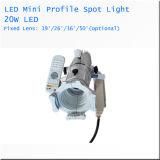 20W 소형 LED 반점 빛 결혼식 극장 LED 단면도 스포트라이트