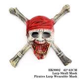 Máscara de cranio Larp Larp Piratas Máscara vestíveis 42cm HK9002