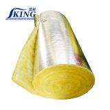 Isolation de couverture de laines de verre avec le papier d'aluminium