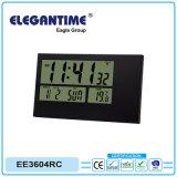 Rádio portátil controlado (Relógio de Alarme de Deslocamento) atómica com grande visor LCD digital da hora, data, Temp