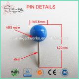 Usine de couleur Jumbo ronde d'alimentation de la tête de bille Map pousser l'axe comme une punaise