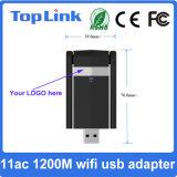Haute vitesse 802.11ac 1200Mbits/s carte réseau sans fil USB / Dongle WiFi avec antenne externe pliable