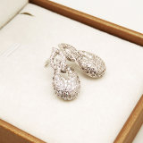 자연적인 다이아몬드 돌 은 형식 귀걸이 보석 여자