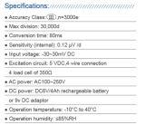 """表示器の重量を量る6つのディジット0.8 """" LEDのプラスチックハウジング"""
