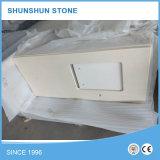Bancada popular do trabalho da cozinha da pedra branca artificial de quartzo
