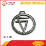 Logo d'étiquette d'étiquette en métal de forme ronde de cavité du nouveau produit 2017