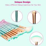 l'insieme di spazzole della sirena 10PCS compone il Eyeliner del sopracciglio del fondamento per arrossire spazzole cosmetiche di Concealer degli orli