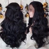 Парик волос свободно части Dlme свободный волнистый черный синтетический