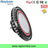 Antirreflexo 140lm/W 200W OVNI High Bay LED Luz para Badminton Tribunal