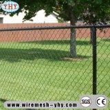 O vinil preto revestiu a cerca do engranzamento de fio da ligação Chain de 8FT para o campo de basebol