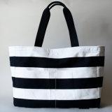 Grosses Weiß mit Firmenzeichen-Drucken-Segeltuch-Einkaufen-Strand-Beuteln (JRC-11-15)