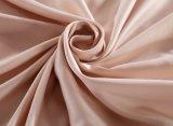 Color marrón del 100% seda de morera conjunto de ropa de cama blanda