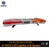 47 polegadas com luz de advertência impermeável de carro de polícia do motor de incêndio do diodo emissor de luz Lightbar do diodo emissor de luz Lightbar do altofalante e da sirene