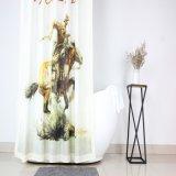 West Cowboy Design Personalizado de cortina de chuveiro de poliéster para banheiro