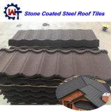 Tuile de toit enduite en pierre de bardeau en métal