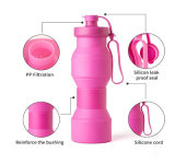 Frasco reusável de dobramento portátil Nontoxic 27oz do copo BPA do turismo dobrável do frasco dos miúdos dos esportes ao ar livre do copo do curso da garrafa de água do silicone livre