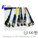 M12 imprägniern abgeschirmten männlichen geraden geformten HF-Kabel-Verbinder
