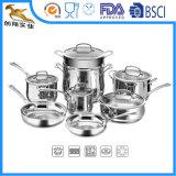 Triple 304 conjuntos del Cookware del acero inoxidable (CX-SS1301)