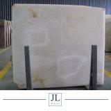 Нефритовый камень оникс белого цвета фона для слоя стены оформлены