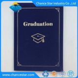Logotipo personalizado de terciopelo Diploma de Graduación utilizar papel tapa