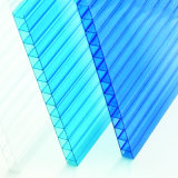 Polycarbonat-hohles Kristallblatt, Polycarbonatsun-Panel, Plastikbaumaterial